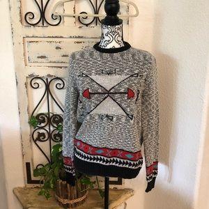 Anthropologie tribal print sweater